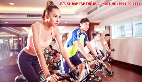 Sửa chữa xe đạp tập thể dục