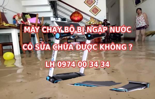 Máy chạy bộ điện bị ngập nước có sửa chữa được không